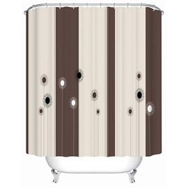 Cartoon Black and White Dandelion Print 3D Bathroom Shower Curtain