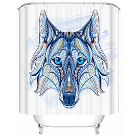 3D Colorful Wolf Printed Polyester Bathroom Shower Curtain