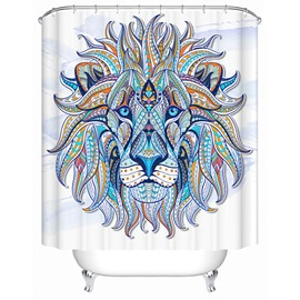 3D Colorful Lion Printed Polyester Bathroom Shower Curtain