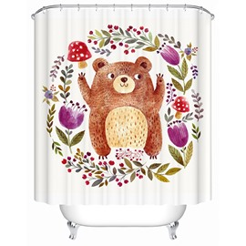 Clip Art Lovely Beer Cheer Print 3D Bathroom Shower Curtain
