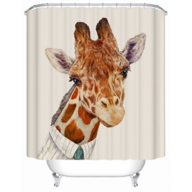 Funny Mr.Giraffe Print 3D Bathroom Shower Curtain