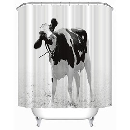 3D Dairy Cow Printed Polyester Bathroom Shower Curtain