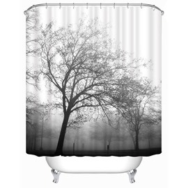 Giant Trees Silhouette Print 3D Bathroom Shower Curtain