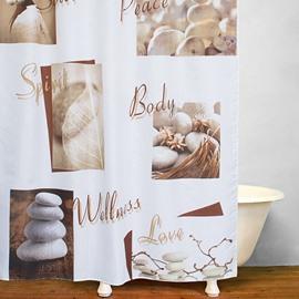 Modern Concise Pebble Print 3D Bathroom Shower Curtain