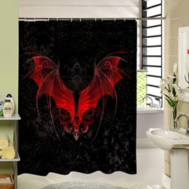 Blood-Red Bat Spread the Wings Printing 3D Shower Curtain
