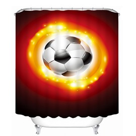 Sparkling Soccer Printing Bathroom 3D Shower Curtain