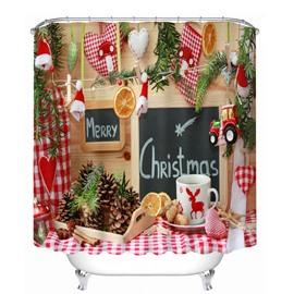 Sweet Christmas Snack Printing Christmas Theme 3D Shower Curtain