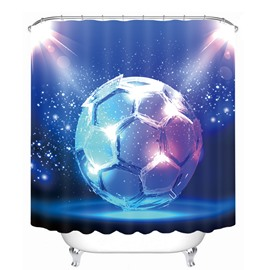Magic Dreamy Soccer Printing Bathroom 3D Shower Curtain