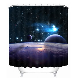 Planets in the Universe 3D Printed Bathroom Waterproof Shower Curtain