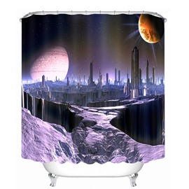 Dreamy City Scenery 3D Printed Bathroom Waterproof Shower Curtain