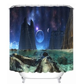 Fantastic Space Scenery 3D Printed Bathroom Waterproof Shower Curtain