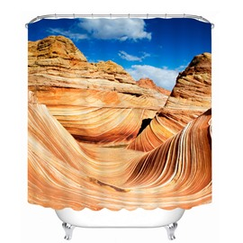Beautiful Desert Scenery of Arizona 3D Printed Bathroom Waterproof Shower Curtain