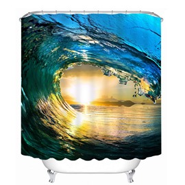 Powerful Waves of the Sea 3D Printed Bathroom Waterproof Shower Curtain