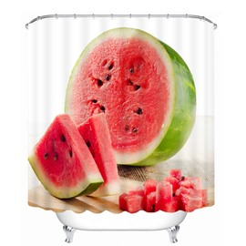 Sweetly Watermelon 3D Printed Bathroom Waterproof Shower Curtain