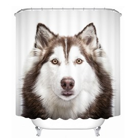Cute Little Husky 3D Printed Bathroom Waterproof Shower Curtain