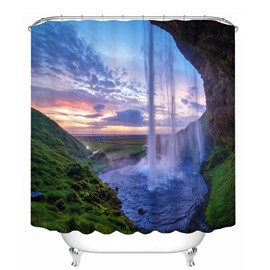 Amazing Nature Waterfall 3D Printed Bathroom Waterproof Shower Curtain