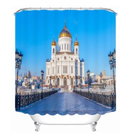 Famous Building in St.Petersburg 3D Printed Bathroom Waterproof Shower Curtain