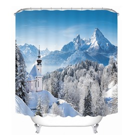 Wonderful Horse in Snow Mountain 3D Printed Bathroom Waterproof Shower Curtain