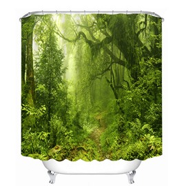 Wild Forest Scenery 3D Printed Bathroom Waterproof Shower Curtain