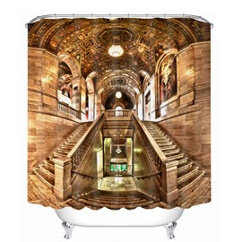 Baroque Castle 3D Printed Bathroom Waterproof Shower Curtain