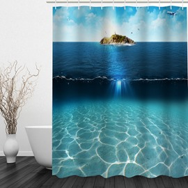 Aesthetic Sea and Sky 3D Printed Bathroom Waterproof Shower Curtain
