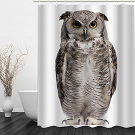 Vivid Owl 3D Printed Bathroom Waterproof Shower Curtain