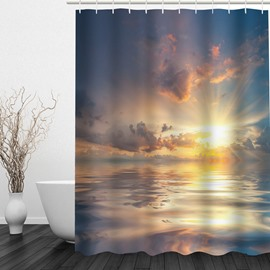 Sea in the Sun 3D Printed Bathroom Waterproof Shower Curtain