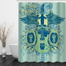 Cool Music 3D Printed Bathroom Waterproof Shower Curtain