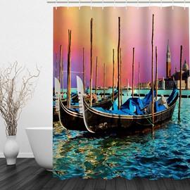 Oil Painting Italy 3D Printed Bathroom Waterproof Shower Curtain