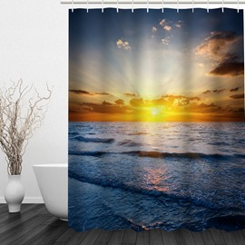 Sunrise by the Sea 3D Printed Bathroom Waterproof Shower Curtain