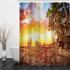 American Countryside at Dusk 3D Printed Bathroom Waterproof Shower Curtain