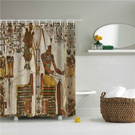 3D Ancient People Printed Egyptian Style Polyester Bathroom Shower Curtain