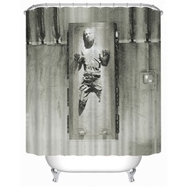 3D Zombie Printed Polyester Gray Bathroom Shower Curtain