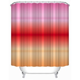 3D Gradient Warm Color Polyester Bathroom Shower Curtain