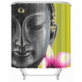 3D Buddha Printed Polyester Bathroom Shower Curtain