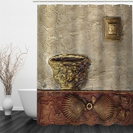 3D Classic Art Work Polyester Waterproof and Eco-friendly Shower Curtain