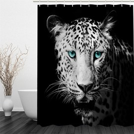 3D Leopard Printed Polyester Waterproof and Eco-friendly Shower Curtain