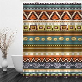 3D Bohemian Pattern Polyester Waterproof and Eco-friendly Shower Curtain