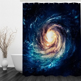 3D Water Swirl Pattern Polyester Waterproof Antibacterial and Eco-friendly Shower Curtain