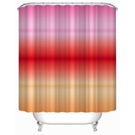 3D Gradient Red Orange and Pink Polyester Waterproof Antibacterial Eco-friendly Shower Curtain