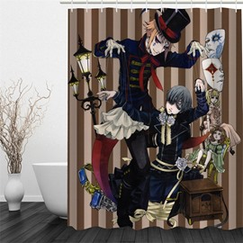 3D Halloween Wizards and Masks Polyester Waterproof Antibacterial and Eco-friendly Shower Curtain