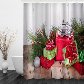 3D Christmas Gifts Printed Polyester Waterproof Antibacterial Eco-friendly Shower Curtain