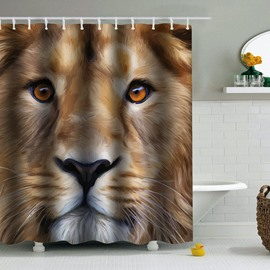 Lion Printed PEVA Waterproof Durable Antibacterial Eco-friendly Shower Curtain