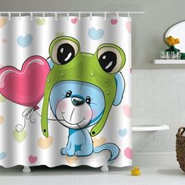 Blue Mouse Printed PEVA Waterproof Durable Antibacterial Eco-friendly Shower Curtain