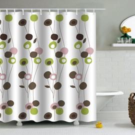 Plants Printed PEVA Waterproof Durable Antibacterial Eco-friendly Shower Curtain