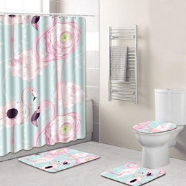 Four-Piece Set Animal Pattern PVC Material Eco-Friendly Feature Shower Curtains