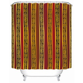 Waterproof Polyester Material Geometric Pattern Mold Resistant Shower Curtain