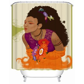 Character Pattern Waterproof Mildew and Mold Resistant Shower Curtain