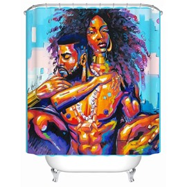 Artists Pattern Polyester Material Mold Resistant Shower Curtain
