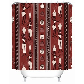 Polyester Material Creative Design Pattern Moist Resistant Shower Curtain
